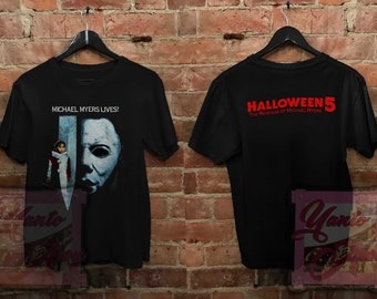 6cc2e740 80s Halloween 5 T Shirt 1989 Revenge Of Michael Myers Slasher Movie Vintage  Unisex Adult Clothing