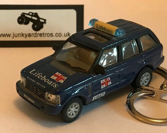 Range Rover L322 RNLI Lifeboats keyring   keychain. 1 72 Scale. Blue 0e8794910