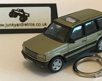 Land Rover Range Rover P38 keyring   keychain. 1 72 Scale. Gold 0c36d60a5