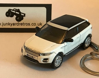 Land Rover Range Rover Evoque keyring   keychain. 1 76 Scale. White be23a97a5