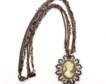 25b4e49de0160 Cameo Necklaces - Vintage | Etsy UK