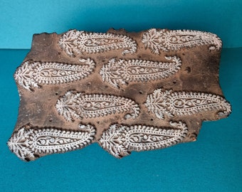 Indian Hand Carved Textile Printing Blocks Wooden Fabric Stamps 2960
