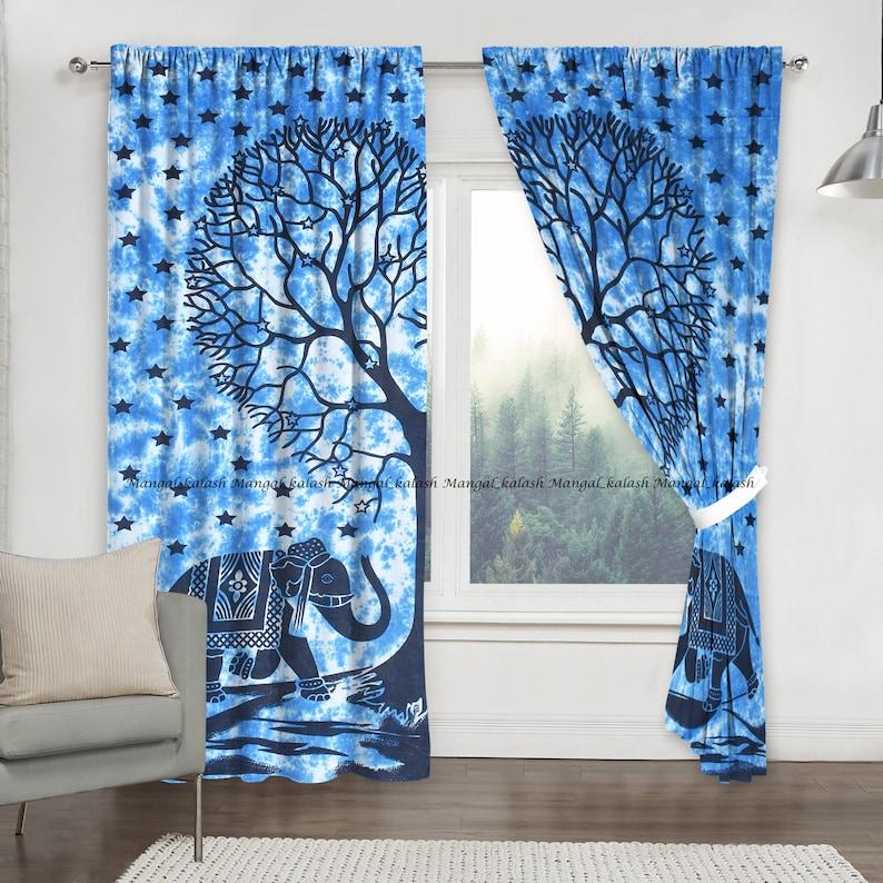 Heart tree mandala cotton curtain window door hippie tapestry curtains wall hanging indian decor bohemian living room treatment