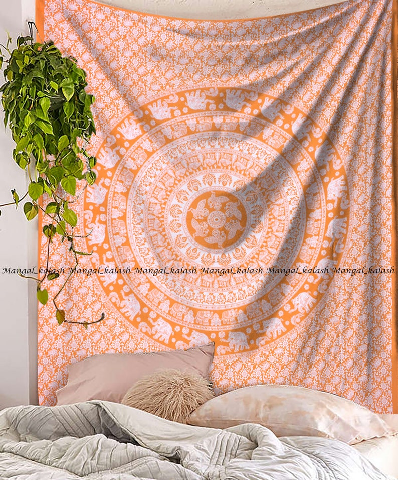 Queen Hippie Indian Tapestry Wall Hanging Mandala Throw Bedspread Bohemian 79