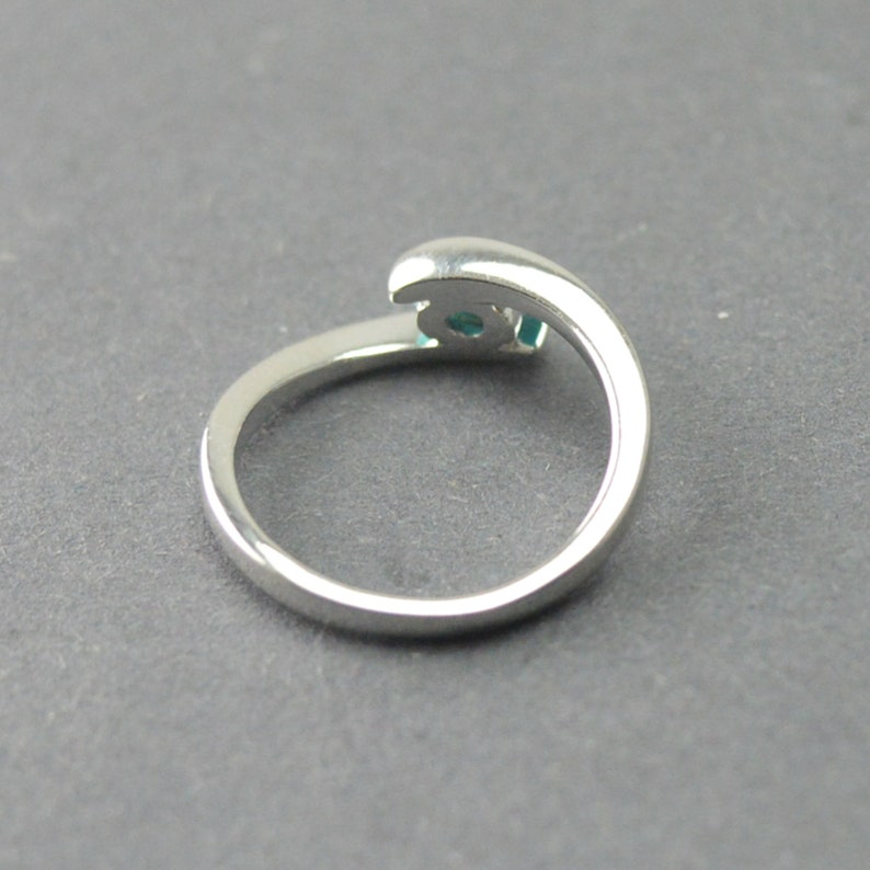 Engagement Ring Handmade Ring Gemstone Jewelry Silver Solitaire Ring Birthstone Ring Turquoise Silver Ring Promise Ring,Christmas Ring