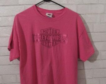 b9139a83 Hot pink Harley Davidson Logo tee