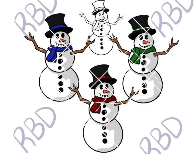 SNOWMAN 3 Bundle, svg, png, pdf, jpg,digital download, printable