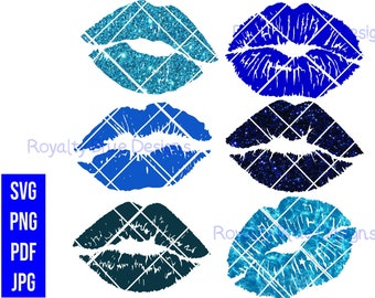 KISSES BLUE Bundle 6, svg, png, pdf, jpg, digital download,