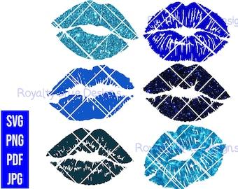 KISSES BLUE Bundle 6, svg, png, pdf, jpg, digital download,