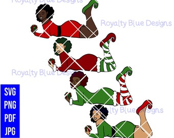 ELFEE Christmas Elf Bundle, svg, png, pdf, jpg, digital download