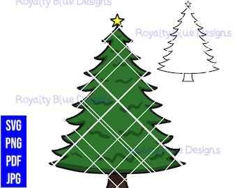 CHRISTMAS TREE, svg, png, pdf, jpg, digital download, printable