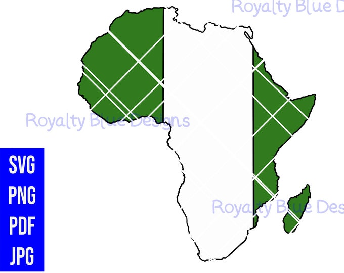 NIGERIA AFRICA, svg, png, pdf, Naija flag, digital download, instant