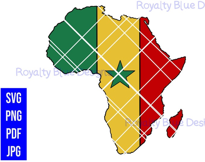 SENEGAL AFRICA, svg, png, pdf, Continent, digital download