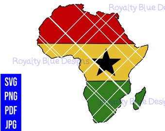 GHANA AFRICA, Flag, Continent, png, pdf, svg, jpg, digital download, instant