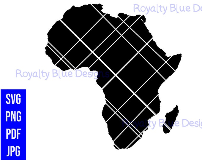 AFRICA, Continent, png, pdf, svg, digital download, instant