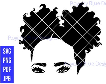 BABY AFRO PUFFS, svg, png, pdf, jpg, digital download