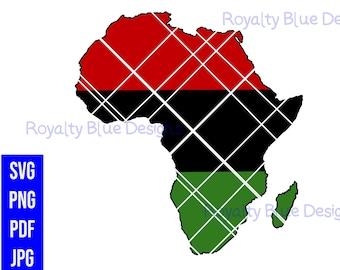 PAN AFRICAN, Africa svg, png, pdf, jpg, digital download, instant