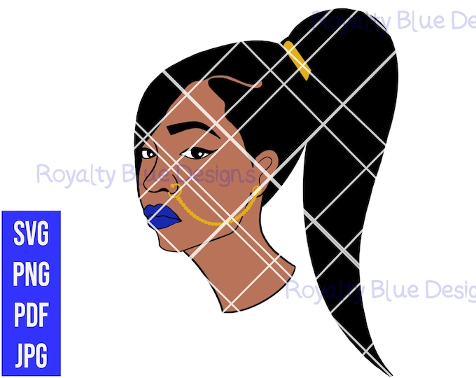 MARIAH, Ponytail, Svg, Png, Pdf, digital download