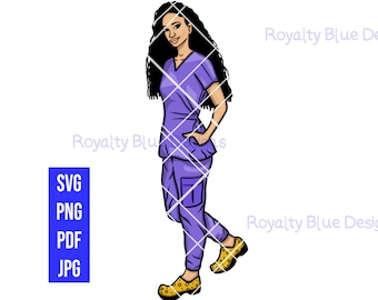 NURSE 1 MVPs, Lilac Purple Scrubs, svg, png, pdf, digital download, instant