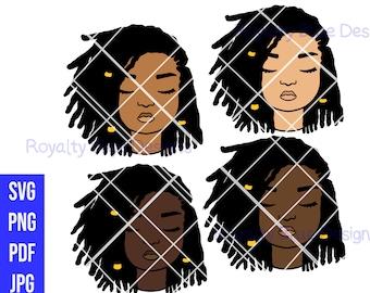 MYLA Locs, Bundle cute kid, svg, png, pdf, jpg, digital download, instant