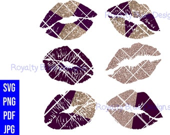 KISSES PLUM GOLD Bundle 6, svg, png, pdf, jpg, digital download,