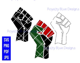 BLACK UNITY, fists, svg, png, digital download, instant