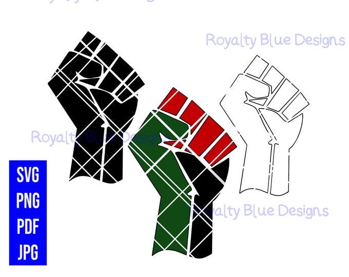 BLACK UNITY, fists, svg, png, digital download, instant