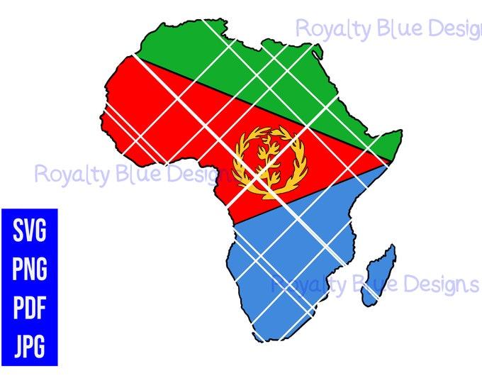 ERITREA AFRICA, svg, png, pdf, jpg Eritrean Flag, digital download