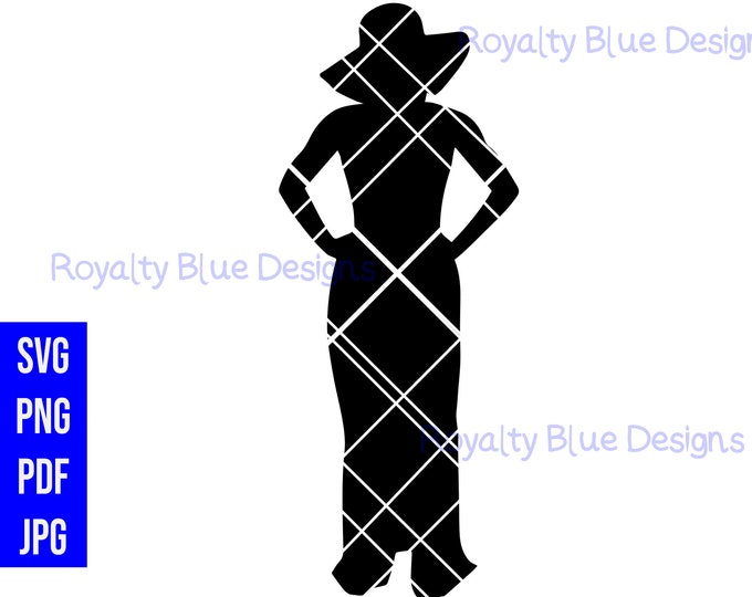 BOSSY SILHOUETTE 1, svg, png, pdf,  instant digital download