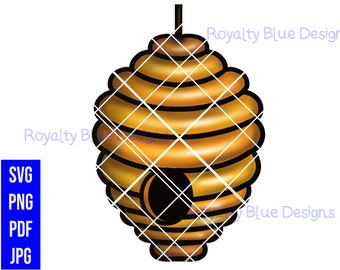BEEHIVE, honey, png, svg, pdf, jpg, digital download, instant