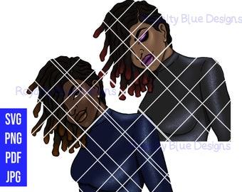 OCTAVIA Sapphire, Locs, svg, png, pdf, jpg, digital download