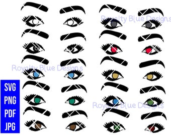 BOLD EYE Bundle 10, svg, png, pdf, jpg, digital download, instant