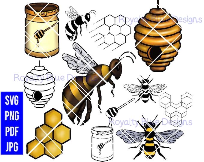 HONEY BEE PALACE Bundle, Beehive png, svg, pdf, digital download