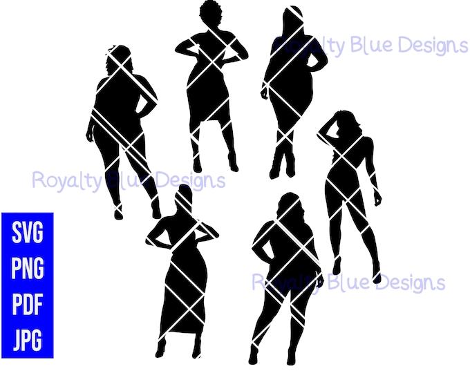CURVY GIRL SILHOUETTES Bundle, digital download