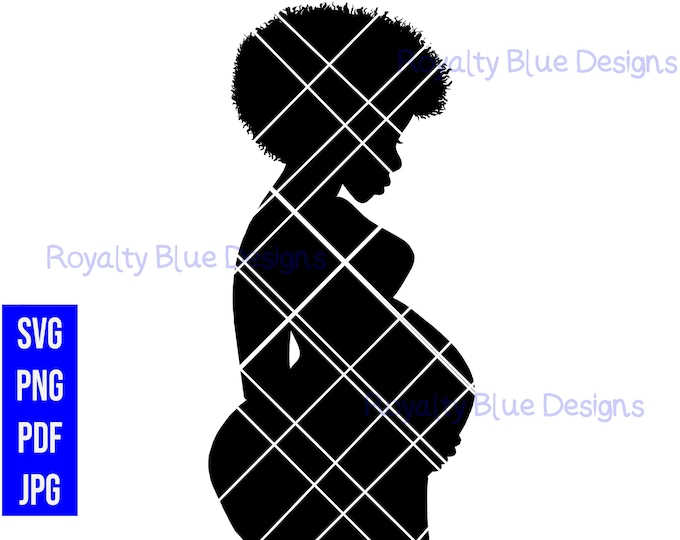 NURTURE 1, pregnant woman silhouette, svg, png, pdf, jpg, digital download, instant