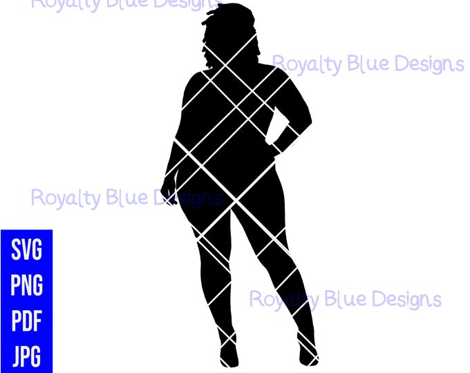 QUEN LOCS, silhouette, digital download