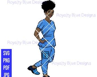 NURSE 2 MVPs, Blue Scrubs, svg, png, pdf, jpg, digital download, instant
