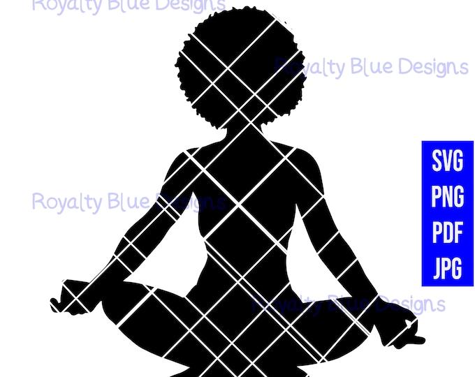 META AFRO, meditation yoga, svg, png, digital download