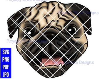 PUG LOVE, Dog, png, svg, pdf, digital download, instant