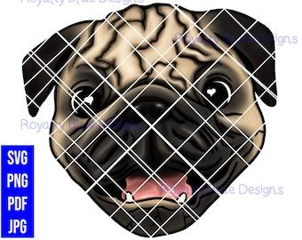 PUG LOVE, Dog, png, svg, pdf, digital download, instant
