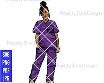 LOCCED UP Nurse, PURPLE digital download, instant