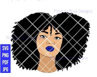 CHANTE, Curly Afro, Svg, Png, Pdf, Jpg, digital download