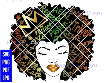 POSITIVE AFRO-mations COLOR, svg, png, pdf, digital download