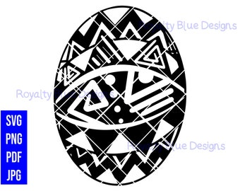 TRiBAL EGG, svg, png, pdf, jpg, digital download, instant