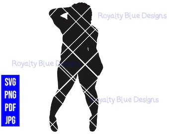 BODIED SILHOUETTE BBW, svg, png, pdf, jpg, digital download, instant