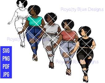 MISS T SASSY PANTS Bundle,svg, png, pdf, thick full body bbw, digital download