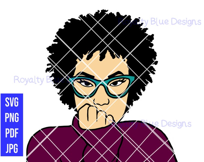 AJ SHORT CURLY afro, png, pdf, svg, jpg, digital download