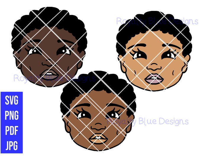 AFRO BABY LOVE Bundle 3 Skin Tones, svg, png, pdf, jpg, digital download