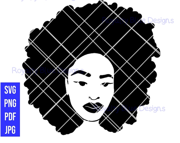 EMPRESS Afro, svg, png, pdf, jpg, digital downloads, instant