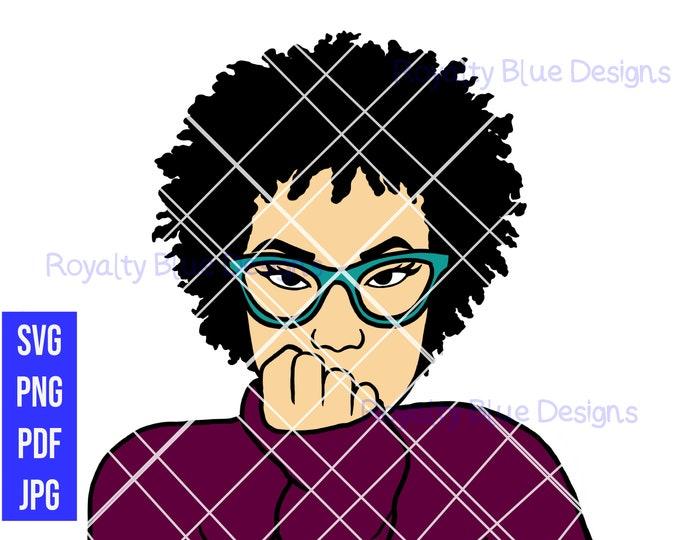 AJ SHORT CURLY afro, png, pdf, svg, jpg, digital download